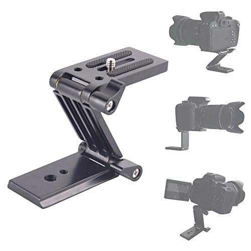 seelive Tilt Head Z Mount Bracket Aluminum Alloy Folding Camera Bracket Quick Release Plate Mounting Z Flex Tilt Tripod Head for Monopod Slider Rail Cage Rig Stabilizer parsimonious