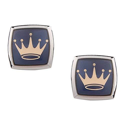 Presentes SataanReaper Gemelos para Los Hombres De Plata Azul De Diseño De La Corona para De Fice Corporativos De Puño Francés Camisa Camisas Chaqueta del Juego En Caja De Regalo #SR-180