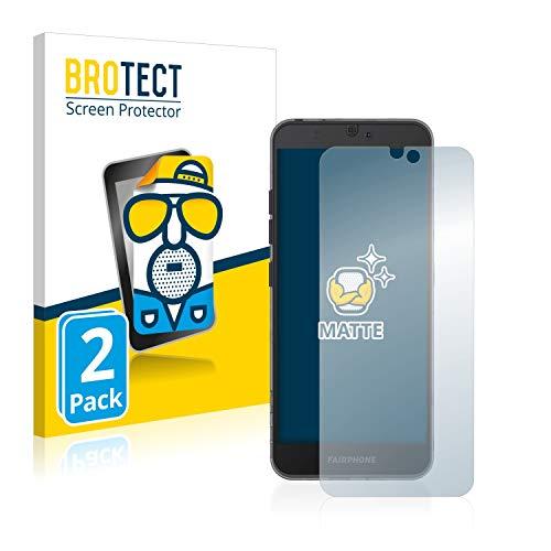 BROTECT 2X Entspiegelungs-Schutzfolie kompatibel mit Fairphone 3 Bildschirmschutz-Folie Matt, Anti-Reflex, Anti-Fingerprint