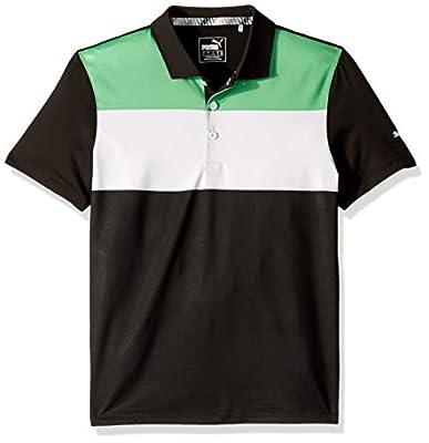 Puma Golf Boys 2019 Nineties Polo, Irish Green-Puma Black, Medium