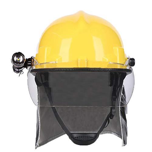 Casco de Rescate al Aire Libre, Casco de Rescate de terremotos Emergencia Anti-Rotura Casco Protector, con máscara con Linterna Fyxd