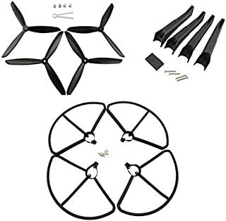 Original Hubsan H501S RC Quadcopter Drone Propellers Protection Cover & Landing Gear Set (Black)