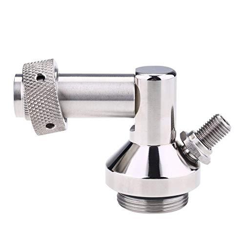 Bier Speer, Edelstahl Fass Bierzapfpistole Schnellverbinder Praktisches Homebrew-Werkzeug Mini Keg Dispenser für die Hausbrauenherstellung, 7,5 * 6,5 cm