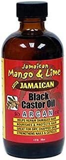 Jamaican Mango & Lime Argan Jamaican Black Castor Oil 4oz/118ML