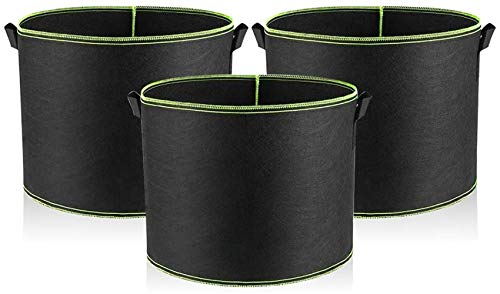 Opfree Vegetable Grow Bags,Garden containers Pots and planters Extra Large,Planting Pots Pack,for Grow Vegetables Indoor Outdoor(3 PCS) (35 * 30cm)
