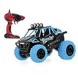 Pinjeer Coche de Control Remoto 2WD Off-Road Crawler 360  Flip Over Stunt Car 3 Color Modelo de Choque Resistente Opcional Juguetes para nios Regalos de cumpleaos para nios de 3+ (Color : Blue)