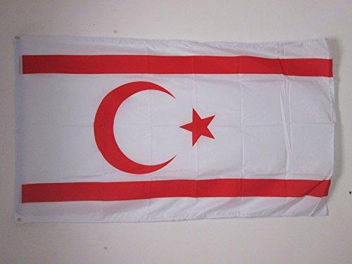 AZ FLAG Flagge TÜRKISCHE Republik NORDZYPERN 150x90cm - Nord-ZYPERN Fahne 90 x 150 cm - flaggen Top Qualität