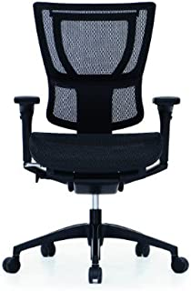 iOO Eurotech Office Ergonomic Chair Black Mesh and Black Frame with Head Rest