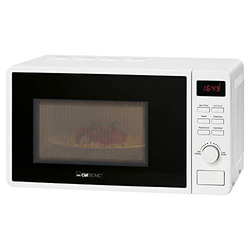 Clatronic MWG 793/ - Microondas 2 en 1 con grill, 700 W, 800 W, grill de 20 litros, incluye programa Express, 5 niveles de potencia combinados, iluminación para el horno, color blanco Blanco