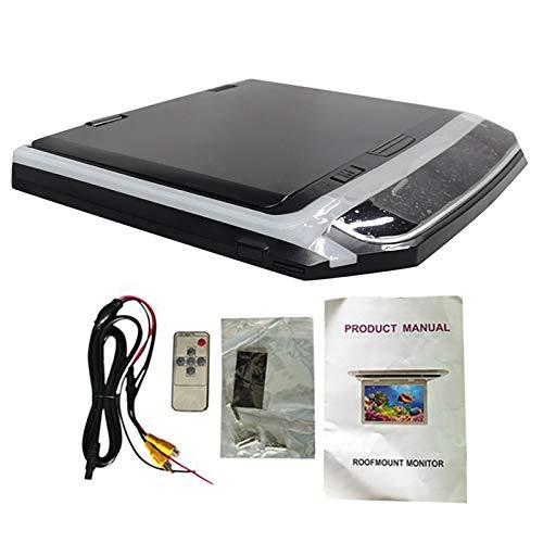 Cimoto Monitor Abatible para Coche de 10,1 Pulgadas, Reproductor HD 1080P, Reproductor de DVD Ultra Fino para Coche, Entrada de VíDeo de 2 VíAs, Monitor LCD para Techo de Coche