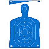 EZ Aim High Visibility Paper Range Shooting Targets Human Silhouette by Allen, 23 inch X 35 inch, 4 Pack, Blue
