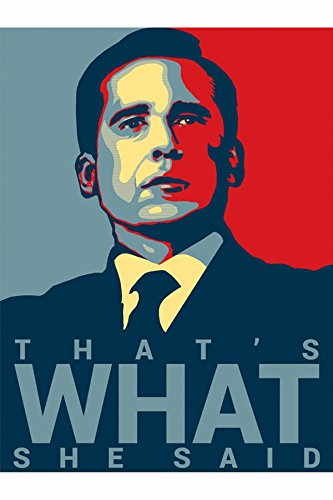That's What She Said - Michael Scott Quote 19 - The Office Poster (18 inch X 12 inch, Rolled)