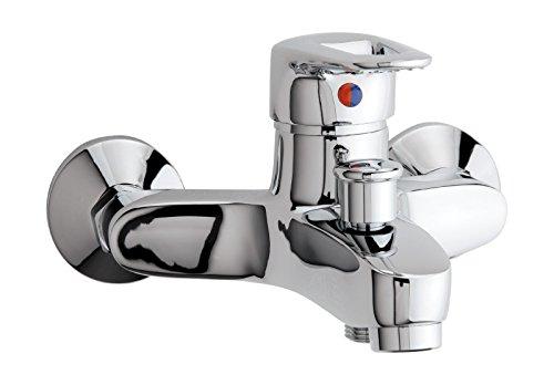 'aquaSu® 76019 5 Einhandmischer Luna für Wanne | Chrom | Wasserhahn | Einhebelmischer | Badewannenarmatur