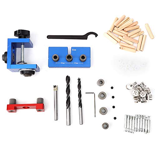 3-in-1 Hole Puncher Set, Woodworking Drilling Locator Aluminum Alloy Drilling Jig Guide Kit DIY Tools Tool Accessories X150b
