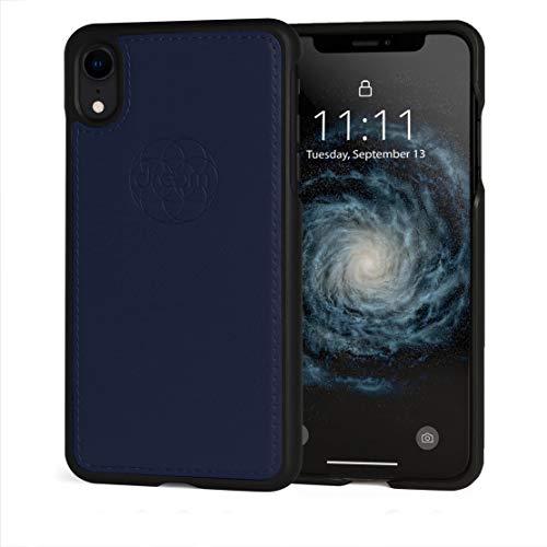 Dreem Fibonacci Luxury Vegan Leather Case for iPhone 7/8 Plus, Slim, Shock-Proof TPU Case, Perfect for Magnetic Mounts, Gift-Box - Royal
