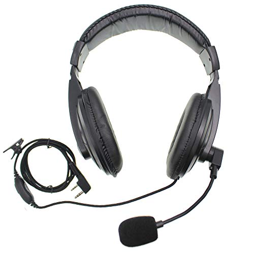 Two Way Radio Earpiece with Mic Noise Cancelling Headsets Headphones PTT and Vox Headset with Soft Earmuffs Earphone