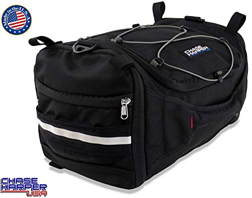 Chase Harper USA 4250 Deluxe Hide-Away Tail Trunk - Water-Resistant, Tear-Resistant, Industrial Grade Ballistic Nylon with Adjustable Bungee Mounting System for Universal Fit