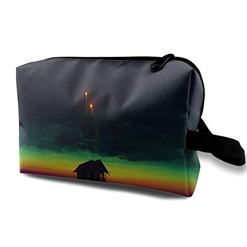 Toiletry Travel Bag Cool Sea Love Abstract Makeup Bag for Women Girls