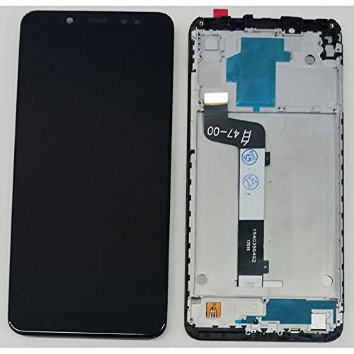 HOUSEPC Pantalla LCD + Pantalla Táctil + Marco para Xiaomi Redmi Note 5 M1803e7sg Negro