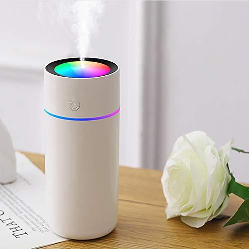 Luftbefeuchter,Air Diffuser,Aromazerstäuber,Mini Luftbefeuchter mit zwei Sprühmodi,USB-Verbindung,2 Nebelmodi,Super Quiet,automatische Abschaltung. (Weiß, 320ml)