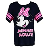 Disney Minnie Mouse Plus Size Short Sleeve Jersey Shirt, 2X, Blue