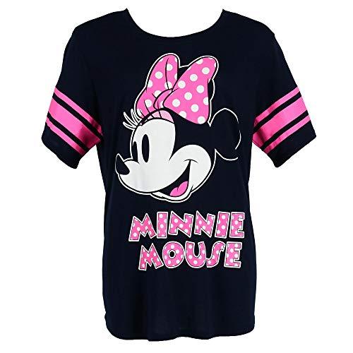 Disney Minnie Mouse Plus Size Short Sleeve Jersey Shirt, 1X, Blue
