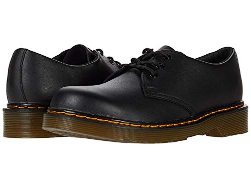 Dr. Martens Kid's Collection 1461 (Little Kid/Big Kid) Black Softy T 1 UK (US 2 Little Kid) M