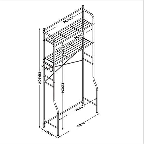 Multi-functionele badkamer opslag plank geschikt voor over wc wasmachine planken vloer staande Punch gratis rekken planken/B met Base