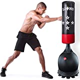 Lions Free Standing 5.5ft Punch Bag Boxing Stand Martial Arts Fitness Kick Punching Training Dummy