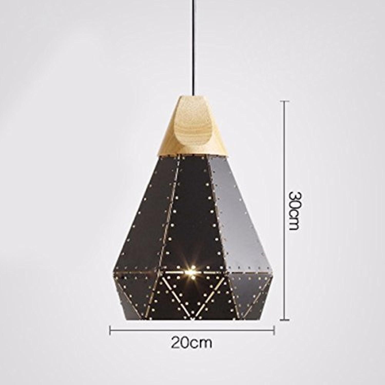 Zhang Ying ZY  Pendelleuchte Kronleuchter Restaurant Licht Einfache Diamant Eisen Kunst Einzelkopf Schwarz 20  30 cm