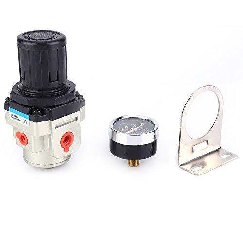 G1/4 Luftregeldruckregler SMC Überlaufreduzierventil mit Knopf Manometer Einstellbarer Druckminderer für flüssige Luft