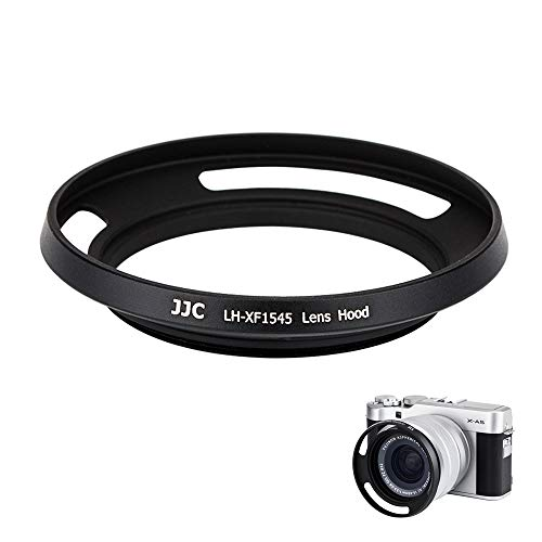 JJC Gegenlichtblende kompatibel mit Fujinon XC15-45mmF3.5-5.6 OIS PZ Objektiv (Fujifilm X-A5 X-T100)