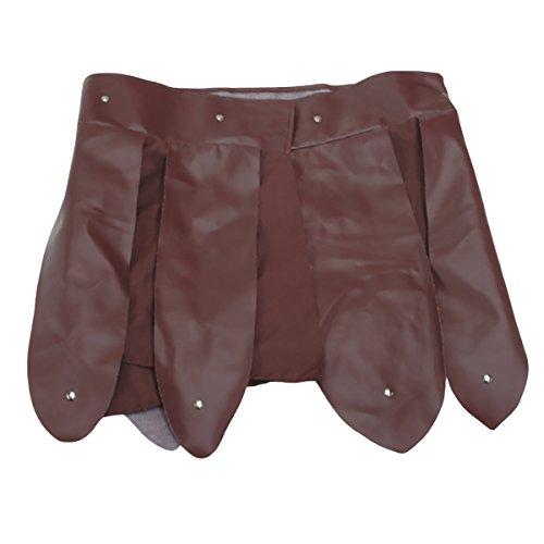 Brown Roman Gladiator Skirt Belt Apron Pteruges Vinyl Trojan Armor Costume Greek