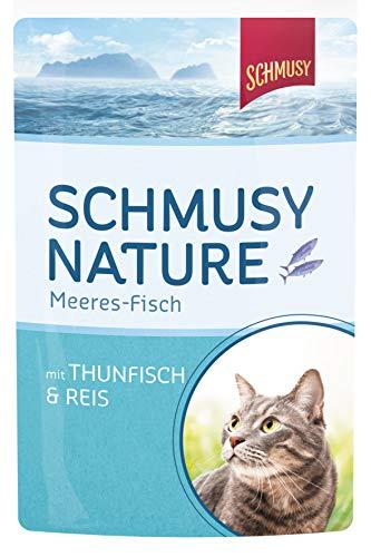Schmusy Katzenfutter Thunfisch & Reis 100 g, 24er Pack (24 x 100 g)