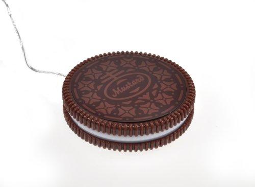 Mustard USB Cup Mug Warmer Coaster - Dark Brown Hot Cookie (NG1702)