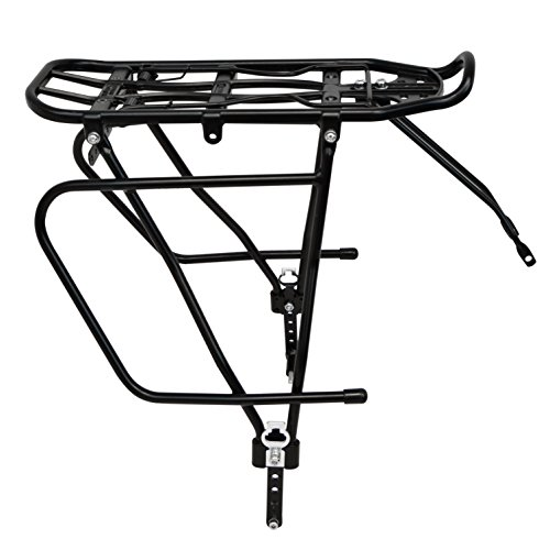 Lumintrail Bicycle Rear Frame Mounted Cargo Rack for Disc Bikes Height Adjustable Commuter Carrier