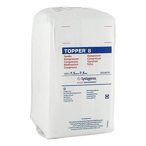 TOPPER 8 Kompr.7,5x7,5 cm unsteril 100 St