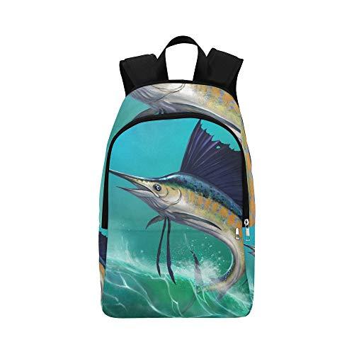 Sailfish On Waves Jump Lässige Daypack Reisetasche College School Rucksack für Herren und Frauen