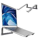Soporte para ordenador portátil, ventilado, para ordenador portátil, 100% aleación de aluminio, con ventilación, soporte para puerto de ordenador / MacBook/Pro/Air/iPad Laptop, 11 – 17,3 pulgadas