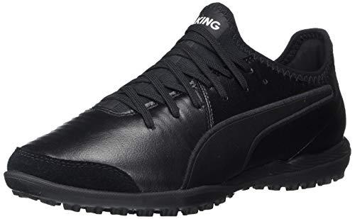 PUMA Men's King PRO TT Sneaker, Black White, 10.5 M US
