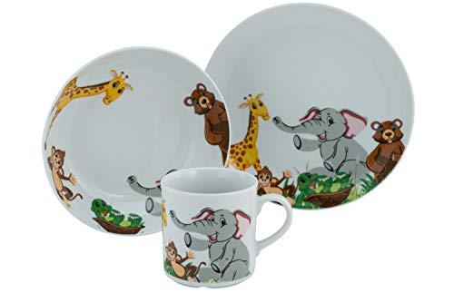 Creatable, 22897 Zoo - Vajilla infantil (3 piezas, porcelana)