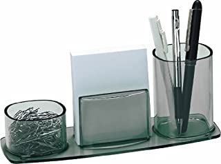 Acrimet Millennium Desk Organizer Pencil Paper Clip Cup Holder (with Paper) (Smoke)