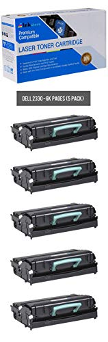 Inksters Compatible Black Toner Cartridge Replacement for Dell 2330 2330D 2330DN 2350 2350D 2350DN - 330-2666 330-2667 - 5 Pack
