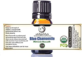Certified Organic Blue Chamomile Essential Oil || USDA Certified Organic German Chamomile Essential Oil || Blue Chamomile ...
