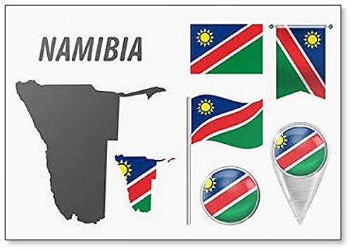 Namibia kylskåpsmagnet motiv nationalflagga