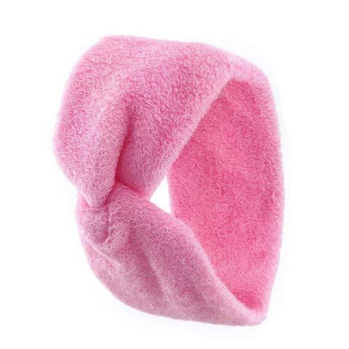 1110 - Fascia per capelli spugna di cotone made in Italy cm 7 con nodo centrale - Fasce per capelli (Rosa)