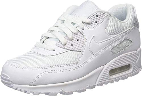 Nike Herren Air Max 90 Essential 537384-111 Low-Top, Weiß (White/white-white-white), 45 EU