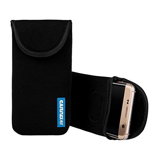 Caseflex Kompatibel Für Sony Xperia X Compact Tasche, Neoprene Beutel Hülle/Kompatibel Für Sony Xperia X Compact Pouch/Skin/Cover - Schwarz