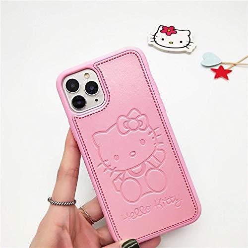 Velyon Hello Kitty Mobiltelefone kompatibel mit iPhone 11/11pro 12/12pro Hülle (iPhone 11, Hello Kitty)