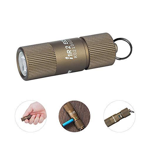 OLIGHT I1R 2 Eos Mini Taschenlampe für Schlüsselanhänger 150 Lumen, IPX8 Wasserdicht, Wiederaufladbarer EOS LED Taschenlampe Handlampe
